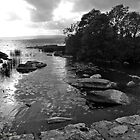 Bridge Over the Loughshore - Lough Derg at Garrykennedy, County Tipperary. by Laura Butler