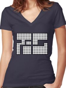 Splatoon Inspired: Octo Tee Women's Fitted V-Neck T-Shirt