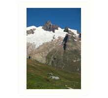 Vallee des Glaciers Art Print