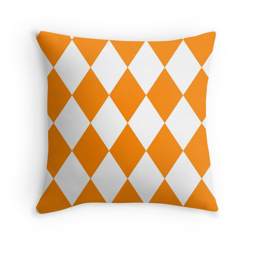 Orange And White Decorative Pillows :