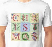 Decorative Christmas Letters Unisex T-Shirt