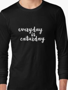 Caturday | Hand Lettered I Long Sleeve T-Shirt