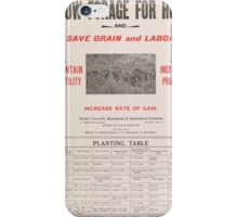 United States Department of Agriculture Poster 0058 Grow Forage for Hogs Save Grain and Labor iPhone Case/Skin