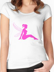 mud flap fairy  Women's Fitted Scoop T-Shirt