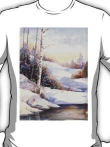Watercolour winter scene T-Shirt
