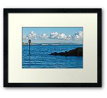 Winter Blues ~ Lyme Regis Framed Print