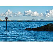 Winter Blues ~ Lyme Regis Photographic Print