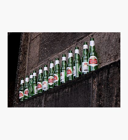 Ten green bottles hanging on a wall...  Photographic Print