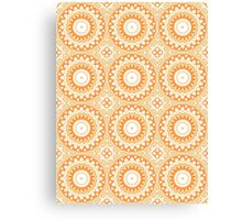White, Yellow & Orange Kaleidoscope Flowers Canvas Print