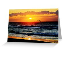 Sunrise over the Atlantic Greeting Card