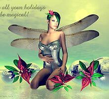 Orchid Faerie Holiday Card by Sandra Bauser Digital Art