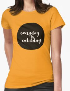 Caturday   Hand Lettered II T-Shirt