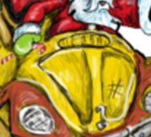Vw Santa Sticker