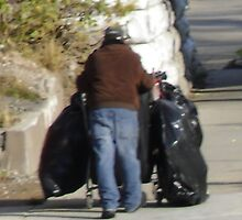 homeless man with his cart TEMP 51 by activtist