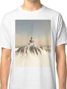 Snow Covered Mountain Buddha Classic T-Shirt