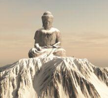 Snow Covered Mountain Buddha Sticker