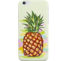 Cute Colorful  Pineapple Watercolors Illustration iPhone Case/Skin