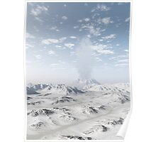 Snow Covered Volcano Poster