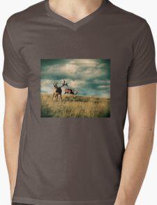 Great Grazing Mens V-Neck T-Shirt