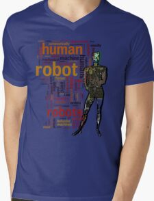Human Robot Mens V-Neck T-Shirt