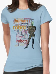 Human Robot Womens Fitted T-Shirt