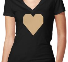 Pale Gold  Women's Fitted V-Neck T-Shirt