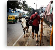 Right of Way in Mysore Canvas Print