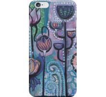 Eithne Sweeney Art, bohemian flowers mixed media painting iPhone Case/Skin