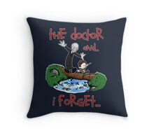 Calvin and Hobbes Doctor Throw Pillow