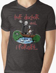 Calvin and Hobbes Doctor Mens V-Neck T-Shirt