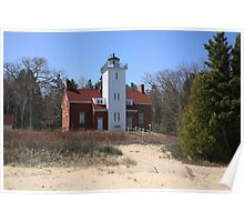 Lighthouse - 40 Mile Point, Michigan Poster