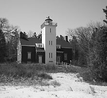 Lighthouse - 40 Mile Point, Michigan by Frank Romeo