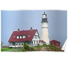 Lighthouse - Portland Head, Maine Poster