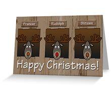 Three Reindeers Greeting Card