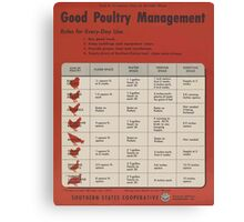 United States Department of Agriculture Poster 0315 Good Poultry management Canvas Print