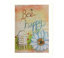 Eithne Sweeney Art, Bee Happy Art Print