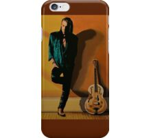 Chris Whitley painting iPhone Case/Skin