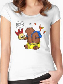 A Confused Bear and his Bird Women's Fitted Scoop T-Shirt