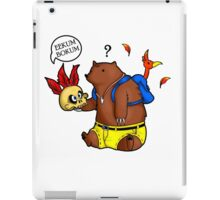 A Confused Bear and his Bird iPad Case/Skin