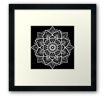 White Floral Lace Ornament Framed Print