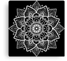 White Floral Lace Ornament Canvas Print