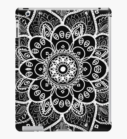 White Floral Lace Ornament iPad Case/Skin