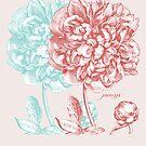 Peony Flower by Zehda