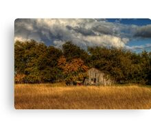 Autumn and Old Shed Canvas Print