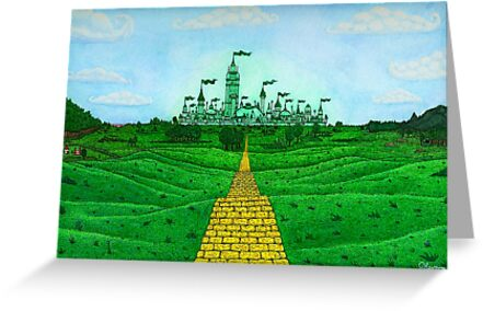 Emerald City Landscape by Kevenn T. Smith by KevennTSmith