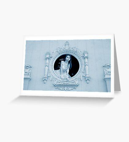 Princess Haley at Her Window Greeting Card
