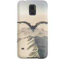 Grey Dragon Flight Over Snowy Mountains Samsung Galaxy Case/Skin
