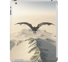 Grey Dragon Flight Over Snowy Mountains iPad Case/Skin