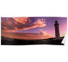 Sunset at Kiama Lighthouse Poster