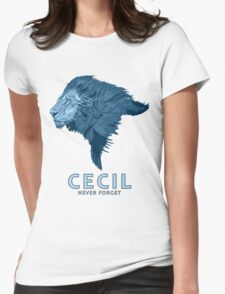 Cecil never forget Womens Fitted T-Shirt